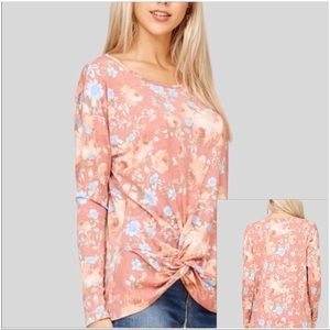 Papermoon Floral Top Twist Front Sz L